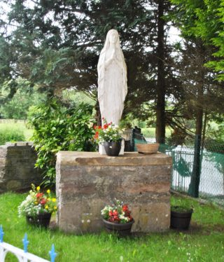 Marian Shrine standing on penal era altar top. | Christy Cunniffe