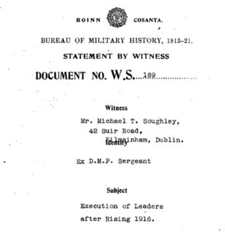 Bureau Of Military History Witness Statements