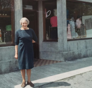 Cissie Raftery, (nee Glynn) at Raftery's Store,  | Lilian Higgins