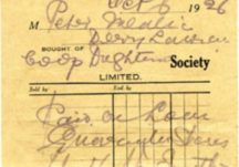 Oughterard Co-op Receipt 1926