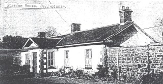 Station House, Ballyglunin first appeared in Corofin Parish Magazine and later reproduced in Out and About in Killererin - P. 43 | Source: Mrs. Mary Nally, late of Ballyglunin.