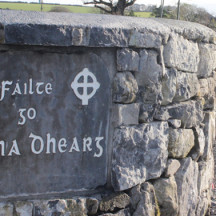 Stone sign to be seen on entering the village from Tuam direction | Photo: Bernadette Connolly, Clogherboy (2015)