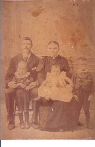 James and Catherine Gillon with three of their children   Photo: courtesy of Mary Geoghegan, Peak