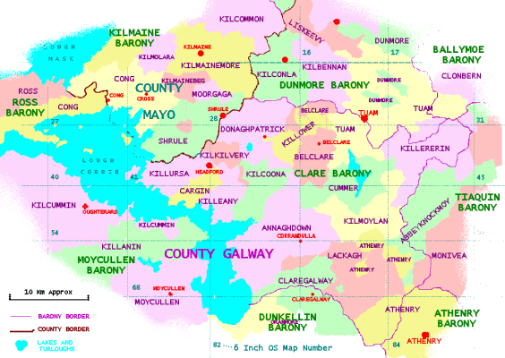 Map showing Civil Parish of Killererin | Galway Map Resources - Shrule. www.shrule.com/?page id=1604