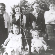 L-r: Kath. Donnellan, Togher; Mary Ryan, Mick Stephens, Togher;  Bridgie Farrell, baby Jn. Farrell and Nora and Rose Farrell (all Farrells from Togher). | Out and About Magazine 2013