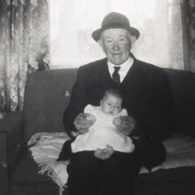 Pa Gilligan, Dangan with his grandaughter Mary | Photo: contributed by Anita Stone, Barnaderg