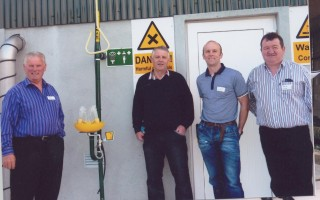 L-r: Sean Roche, Gerry Connolly, Aidan O'Malley, Plant Operator and Michael Treacy.