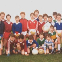 Cahergal NS footballers 1990 - Back row l-r: M. Creaven, Barry Staunton, A. Ryder, P. McGrath, B. Nalty, D. Moggan, D. Fahy, R. Niland, M. Flesk, John Paul Ryder, M. Nalty, T. Noone, Eugene Cooney, ? Kelly, Ger  Cooney, Front row l-r: Alan Heneghan, Donal Williams, Cathal Heneghan, Brian Fay, Brendan Tierney, Sean Kilkelly, and Eoin Jennings  | Image: Oliver Forde