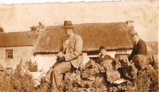 Taken outside Keane's old thatched shop | Sylvester Cassidy
