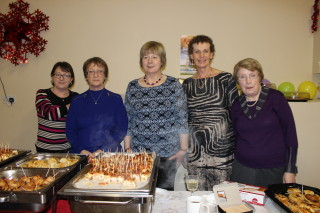 L-r: Ann Heneghan, Mary Rooney, Margaret Tighe, Helen Treacy and Mary Boyle who helped with the catering | Image: Bernadette Connolly
