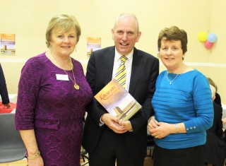 L-r: Eileen O'Connell, (committee),Bernard Keeley (MC) and Bernadette Connolly (Photographer) | Inage: Bernadette Forde