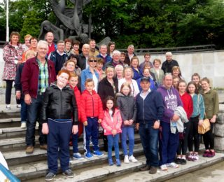 Killererin Heritage tour on the steps of the Garden of Remembrance in Dublin | Photo: Bernadette Forde, Togher