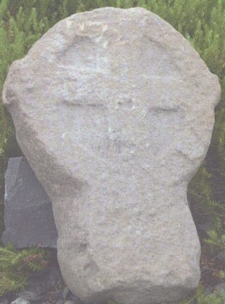 12th century sandstone cross