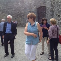 Bridie Keane and some of the Heritage tour group in the yard of Kilmainham Gaol where executions took place | Photo: B. Forde
