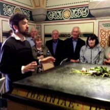 Our guide narrating the story of Daniel O'Connell in his tomb | Photo: B. Forde