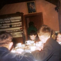 Children having tea after school, the day of the Stations. | Dolly family, Dangan
