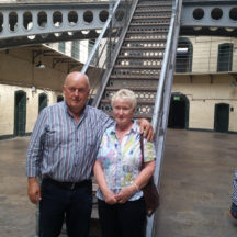 Mattie and Mary Cunningham inside Kilmainham where we were told the acoustics were fabulous and consequently there have been concerts and poetry readings held here.