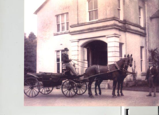 Toghermore House early 1900s. Carriage driver was Denis Geoghegan and his assistant was John Cunningham, Togher. | Photo: Christy Butler, Toghermore