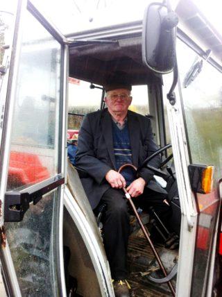 John Cunnane in his tractor in Imanemore | Photo: Seamus Morrissey, Barnaderg