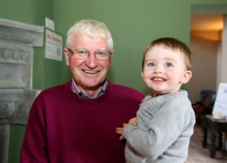 Ollie Forde from Killererin with his grandchild Odhran aged two. | Photo: Hany Marzouk