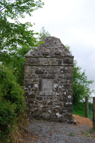 Jockey's Monument - Dates back to 1686. Built in honour of Edmund Hopkins. An obelisk shaped tower with a plague of the front with inscription, found on the border of Ballymary and Cloonacross, Milltown, Co Galway. | Milltown Heritage Group