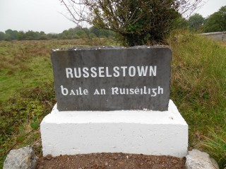 Welcome stone with Russelstown etched into it | Milltown Heritage Group