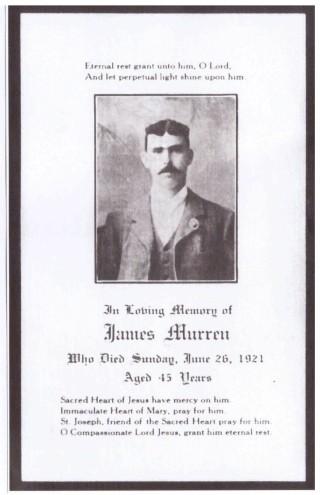 James Murren's Memorial Card | Courtesy of Larry Morrison