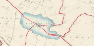 Bell Island Lough bordering 4 townlands | OS 1840 Six-Inch Map
