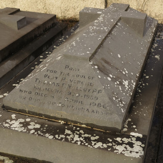 Graveyard of Fr Tom Molloy at Kilmeena church, Westport | Gerry Costello