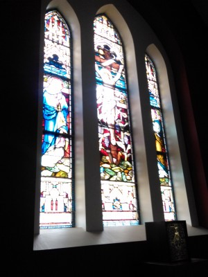 East Gable Stained Glass windows (donated by Rev. Thomas McWalters P.P.). | Ray McGrath