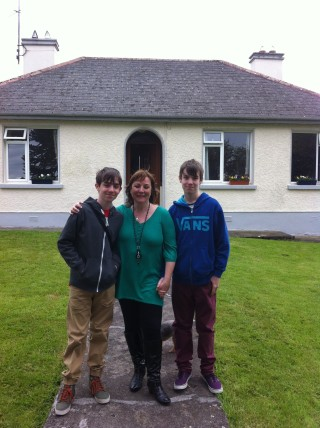 Taking her sons Finlay and Joseph to visit their great-grandmother home in Galway  | Sheron Boyle