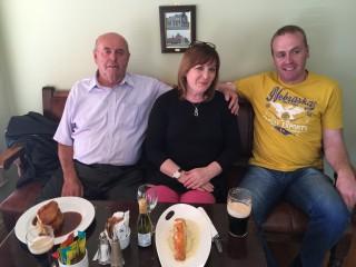Jimmy Boyle, left, with niece Sheron Boyle, and nephew Michael Boyle | Sheron Boyle