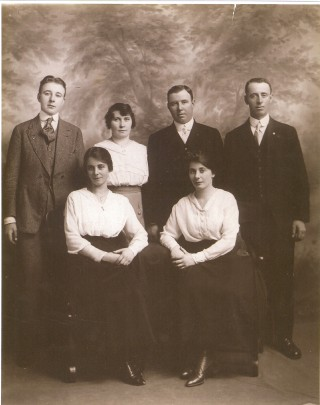 Margaret Martin, from left, with her sister Celia (Noone). Back row, from left, her brother Jim Martin, Delia (McHugh) Martin and husband Pat, Owen Martin  | Sheron Boyle