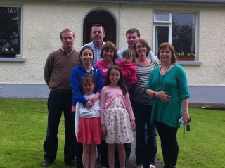 Sheron Boyle, right, with her own gathering of her Boyle clan in Co Galway.  | Sheron Boyle