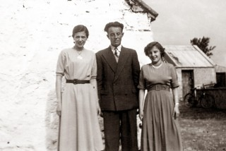 Michael Boyle with his sisters Margaret, left, and Philomena outside | Sheron Boyle