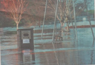 The playground in Milltown was underwater over the weekend.    Ray Ryan