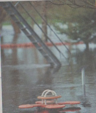 The playground in Milltown was flooded after the storm over the weekend   Ray Ryan