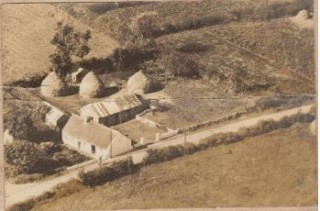 An aerial photograph taken 1960s showing McGrath's 'old house' Cloonagh, built around 1850. | Ray McGrath