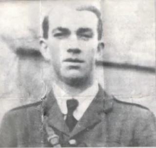 War Of Independence veteran Peter Brennan in uniform.