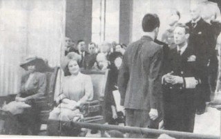 ROYAL HONOUR : Patrick Brennan receives his Military Medal from King George VI. On the left are Queen Elizabeth( later the Queen Mother) and the then Princess Elizabeth.