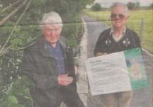 Vandals hit Milltown's award – winning walk