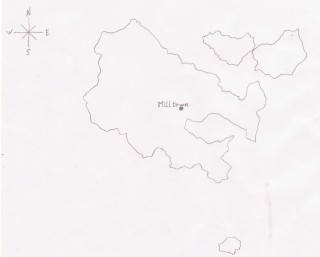 Map of joint old civil parishes of Addergoole and Liskeevy Co Galway. Please note that this map does not correspond to the current day map of Milltown parish as some townlands have since been subsumed by other neighbouring parishes. | Ray McGrath
