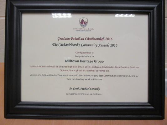 Winner of Best Contribution to Heritage Award 2016 | Milltown Heritage Group