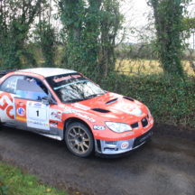 Driver Gary Jennings. Navigator Rory Kennedy. Subaru Impreze WRC