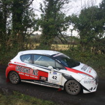 Driver William Creighton and Navigator Liam Regan. Peugeot 208 R2