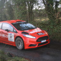 No 37. Driver Joe Connolly & Navigator Richard Connolly. Ford Fiesta R5