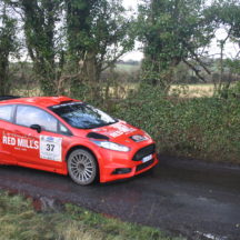 Driver Joe Connolly. Navigator Richard Connolly. Ford Fiesta R5