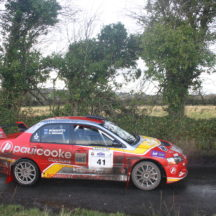 Driver William Mavitty & Navigator Andrew Browne. Mitsubishi Evo 9