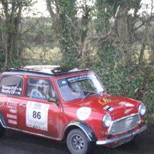 Driver PJ Gannon & Navigator Dennis Murphy. Morris Mini Cooper S