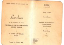 Luncheon Menu Milltown (Co Galway) and District Licensed Traders